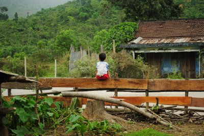 Boy in a minority village