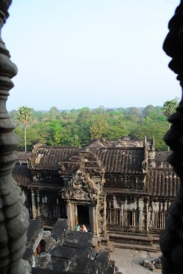 View from tops of Angkor Wat