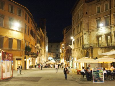 Perugia at night.