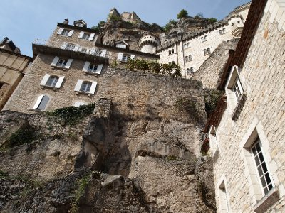 Looking skyward - Rocamadour.