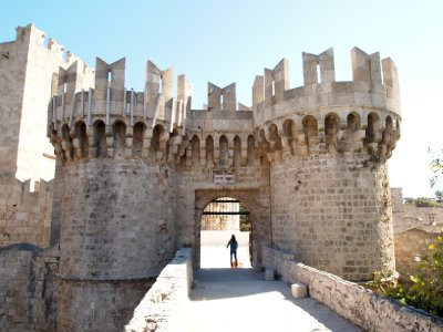 Entrance to the Walls of Rhodos Old Town.