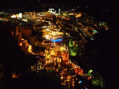 Santorini lights.