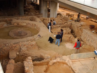 Excavations under the New Acropolis Museum.