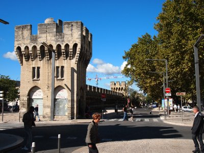 One of the old gates in Avignon.