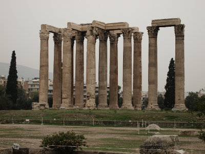 Surviving columns of the Temple of Olympien Zeus - Athens.