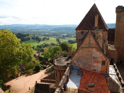 View from the Watch Tower of Chateau De Castelnau.