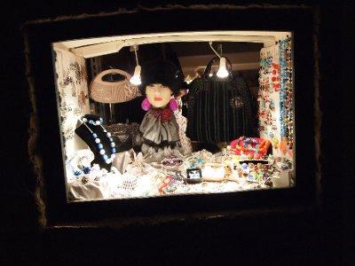 Charming shop window in Siena.