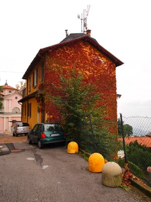 Ivy covered home on the side of a mountain - above Como.