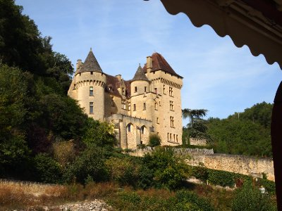 Chateau on the banks of the Dordogne River.