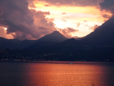 Impending storm over Varenna.