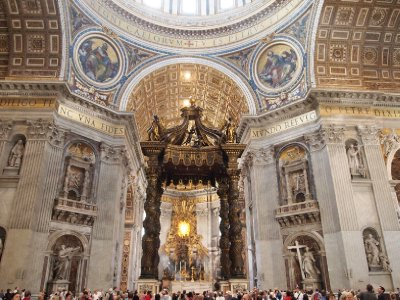Baldecino within St. Peter's Basilica.