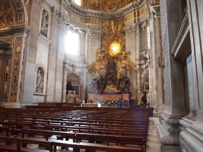 Ray of sunshine - St. Peter's Basilica.