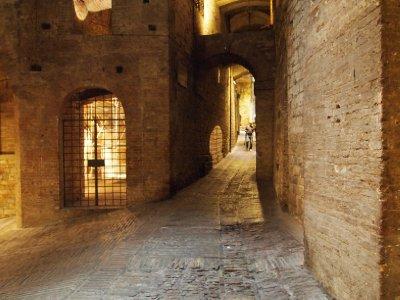 Underground walkway in Perugia.