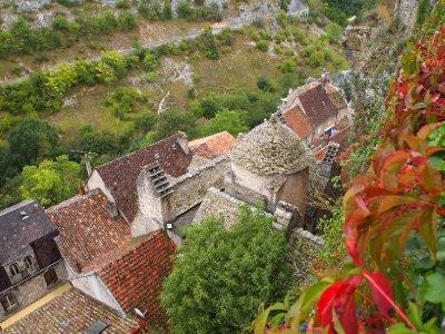Rooftops of Rocamadour.