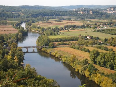 The Dordogne River.