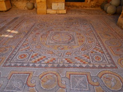 Archeological Museum of Rhodes - mosaic tiled floor.