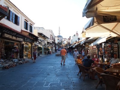 Shopping in Rhodes.
