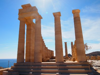 The Ancient Temple of Lindian Athena - Lindos.