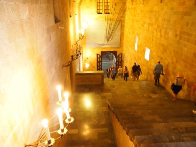 Main staircase in the Palace of the Grand Masters - Rhodes Old Town.