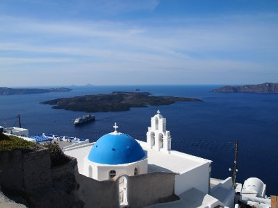 Santorini's most famous church.