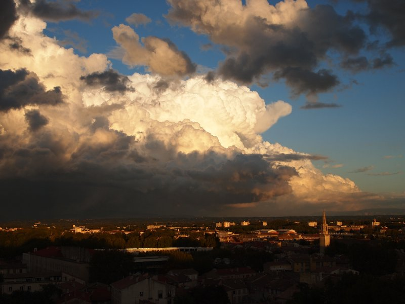 Storm clouds over Avignon.