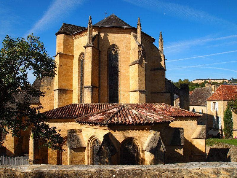 Rear view of the Cathedral St-Sacerdos - built in the 1100's.