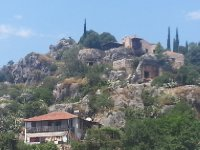 The town of Kekova - with a castle above - built in 1440 AD.