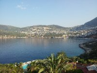 Early morning view of Kalkan from our balcony.