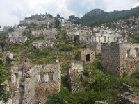 A haunting site - the deserted township of Karymlassos.