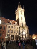 The Town Hall and Astronomical Clock - Old Town Square - Prague.