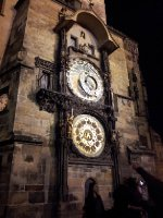 The Astronomical Clock - Prague - under lights.