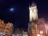 A moonlit Old Town Square - night time - Prague.