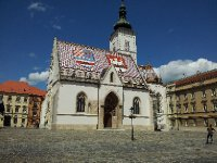 The 13th Century Church of St. Mark - Zagreb.