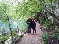Red and Fabiana at Plitvice.