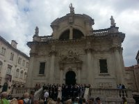 Dubrovnik's Cathedral - complete with wedding party.