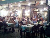 Locals and tourists out for a meal in Chania.