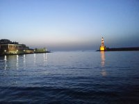 Old Venetian Harbour at dusk - Chania.