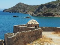 Walls of the Venetian Fortress on Spinalonga Island.
