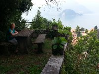 The garden at the very top of our accommodation in Varenna.