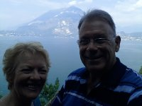 Our very last Selfie - Lake Como is in the background.