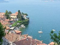 Looking down on the township of Varenna.