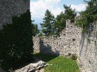 Inside the Castle Vezio walls.