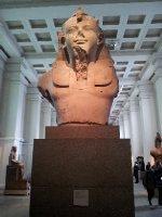 Gigantic head of a Pharaoh.