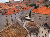 Looking down on the old fountain - Dubrovnik.