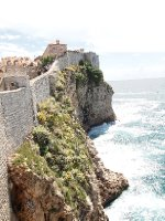 Dramatic walls - long drop - Dubrovnik.