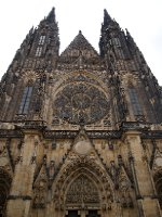The entrance to St. Vitus Cathedral - Prague.