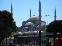 Basking in the sun - the Blue Mosque - Istanbul.