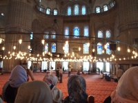 All shoes must be covered and head scarves must be worn by the ladies inside the Blue Mosque.
