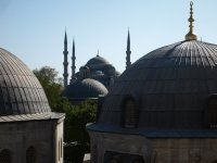 The domes of the Haghia Sophia.