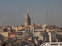 The Galata Tower - photo taken on the Boshorus River.